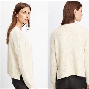Vince nubby knit sweater ivory crew neck s